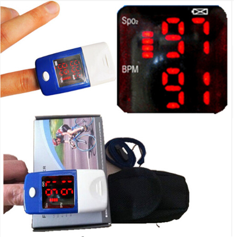 ФОТО CE Oximeter Oxygen Meter Finger Pulse Oximeter Fingertip Oxymeter Portable Sport Oxygen Saturation Monitor Meter CMS50L