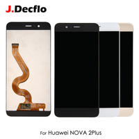 Original For Huawei Nova 2 Plus LCD Display Digitizer Touch Screen Assembly Replacement without Frame 5.5'' Black White Gold