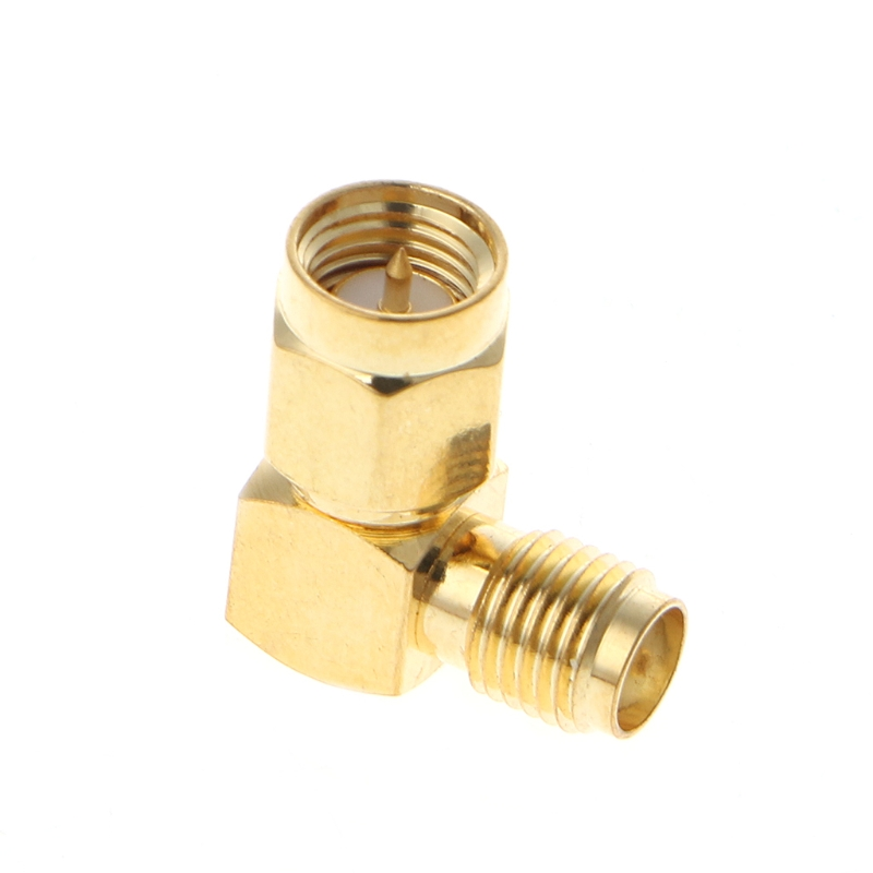 SMA Male To SMA Female Right Angle 90 Degrees RF Coaxial Connector Adapter
