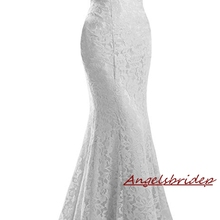 Bride-Gowns Wedding-Dresses ANGELSBRIDEP Lace Formal Mermaid Floor-Length Off-Shoulder