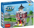 Lepin casa cidade modelos 313 PCS Decool 1106 original compatível Mini Cena Cidade conjuntos de modelos de peças de blocos de Construção Conjunto de Brinquedos