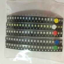 100 Pacote pçs/lote 1206 luz LED Pacote Vermelho Verde Azul Amarelo cada 20 pcs 3216 led