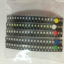 100 adet/grup 1206 ışık Paketi LED Paket Kırmızı Beyaz Yeşil Mavi Sarı her 20 adet 3216 led