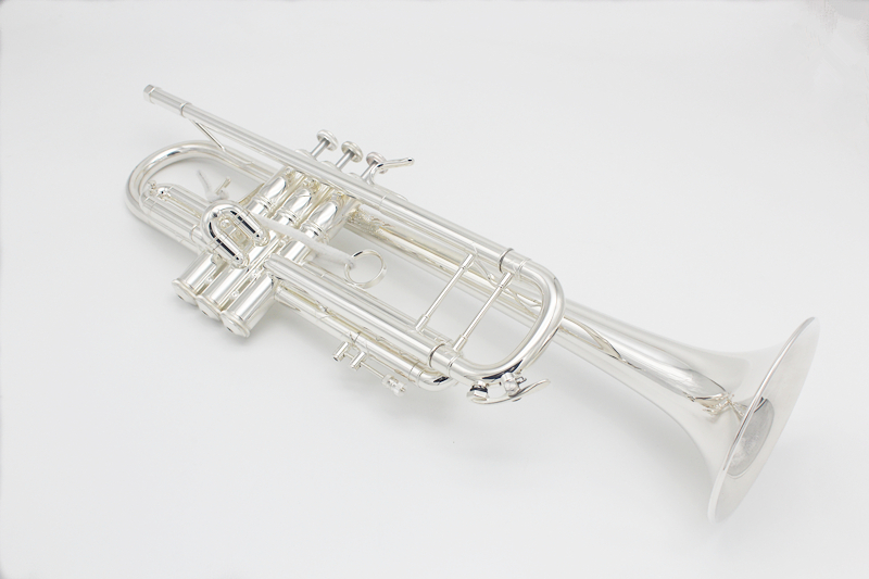 High Senior Trumpet LT 180S-90 Silver Plated Professional Bb Trumpet Music Instruments with Leather Case silver nickel plated double french horn f bb 4 keys with case