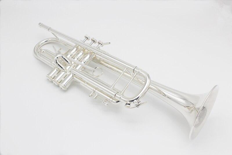 Trompette haut de gamme LT 180S-90 argent plaqué professionnel Bb trompette Instruments de musique avec étui en cuir