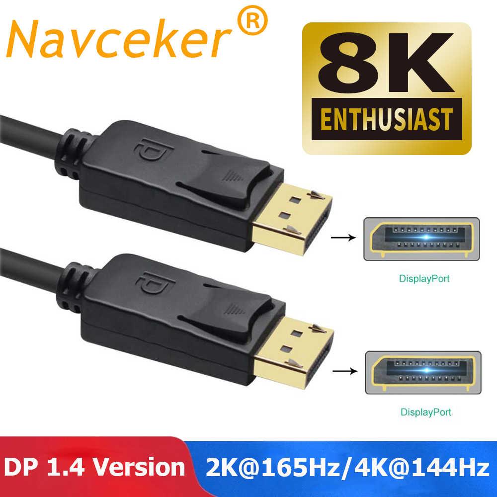 ديسبلايبورت 1.4 كابل 1.4 فولت فيديو الصوت DP 1.4 إلى DP 1.4 كابل ذكر إلى ذكر 4K 60Hz كابل محول ل HDTV العارض عرض ميناء