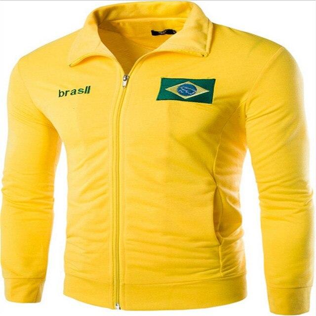 MEBOSYA 2016 Новые Поступления мужская Мода Вышитые Флаги Дизайн Случайных Куртки Мужчины Весна Спортивная Тонкий