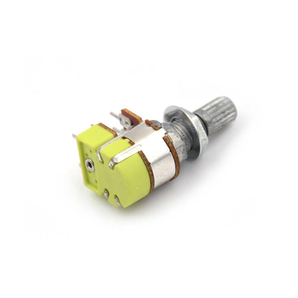 B50K 50K Ohm Dual Linear Taper Volume Control Potentiometer Switch B8S2 M7R7