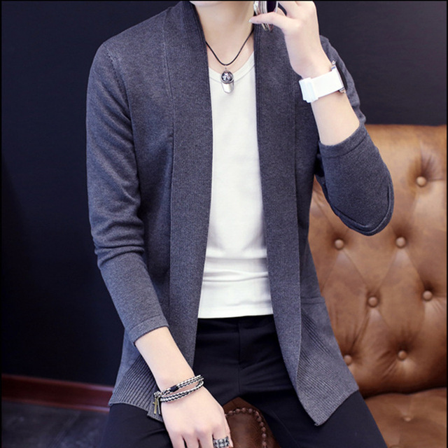 Mens Cardigan Sweater Jumpers 2018 Fashion Sueter Hombre Cardigan Sweaters Men Coats Casual Slim Long Sleeve Sweater Pull Homme