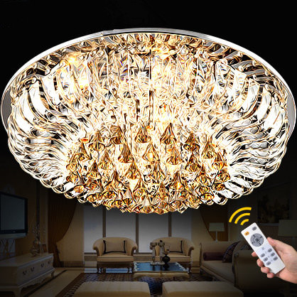 80*80cm LED 60W Flush Mount Crystal / LED Traditional/Classic Living Room Crystal Free shipping