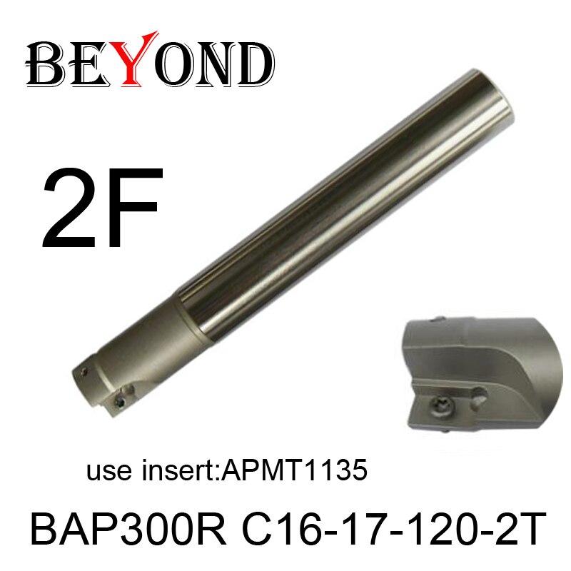 BAP300R C16-17-120-2T,Right angle 90 degree milling cutter arbor Fraise en bout for APMT1135 carbide inserts 2 flute  цены