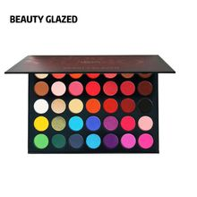 Beauty Glazed Colorful Makeup Pigment Eyeshadows Highlighter Shimmer Matte Nude Palette Paleta De Sombra Professional