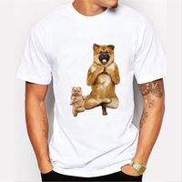 Fashion Crazy Much Big Dog With Puppy Yoga Animal Print 3d T Shirt For Men Women