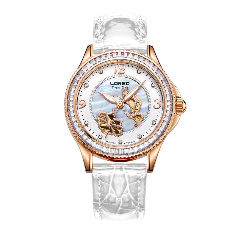 LOREO 1108 Germany watches luxury brand Simple Fashion 316L Stainless Steel Rose Gold Watch Women Dress Watches Diamond simple fashion 316l stainless steel rose gold watch women dress loreo watches top brand luxury diamond quartz watches for girls