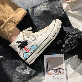 Zapatos Planos De Oro | 2019 Popular Patrón De Dibujos Animados Zapatos De Hombre De Lona Cómodos Zapatos De Fondo Plano Vulcanizados Botas De Ocio De Oro De Moda Para Niño