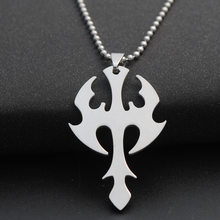 New weapon sea god trident lucky super hero sword dart titanium steel necklace stainless steel arrow dart charm pendant necklace(China)