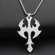 New weapon sea god trident lucky super hero sword dart titanium steel necklace stainless arrow charm pendant