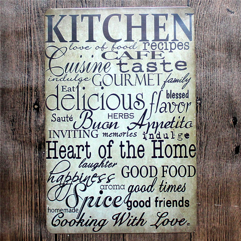 Metal Signs For Home Decor: Vintage Home Decor Kitchen Vintage Metal Tin Signs Retro