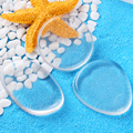 10 Pcs Silisponge Jelly Powder Puff Waterdrop Silicone Gel Sponge for Cosmetic Foundation BB Cream Makeup Tool