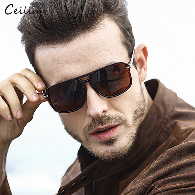 02d38c800bb78 Luxury Polarized Sunglasses Men Flat Top Square Sun Glasses Mens Driving  Shades Male Sports Fishing Goggles Oculos