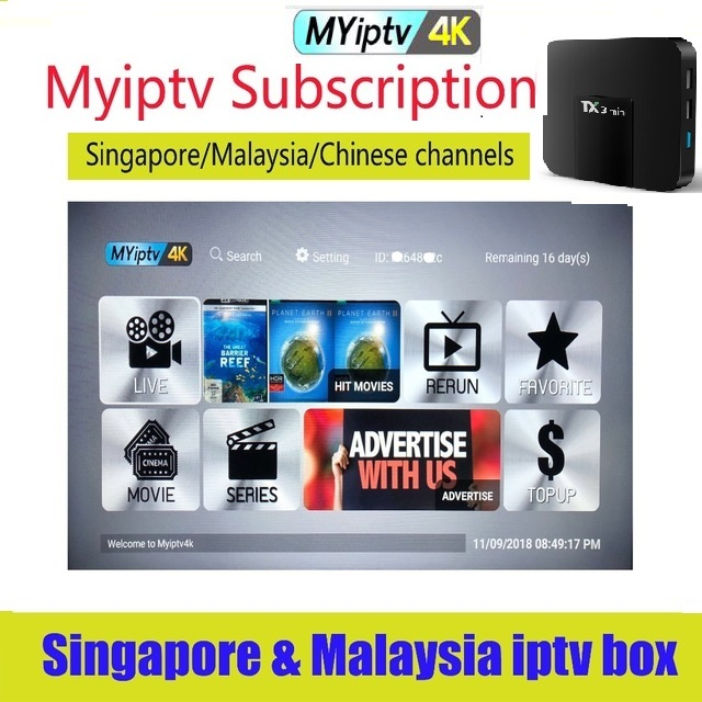 US $27 43 7% OFF|TV box malaysia iptv myiptv 1 Year Myiptv4K Malaysia  Singapore IPTV Indonesia Australia-in Satellite TV Receiver from Consumer