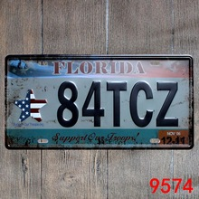 Car number   84TCZ FLORIDA   License Plates plate Vintage Metal tin sign Wall art craft & Buy florida license plates and get free shipping on AliExpress.com