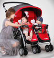 2017 New Arrives Twins Baby Stroller Portable Folding Strollers for twins High Landscape Shockproof Baby Pram Twins C01