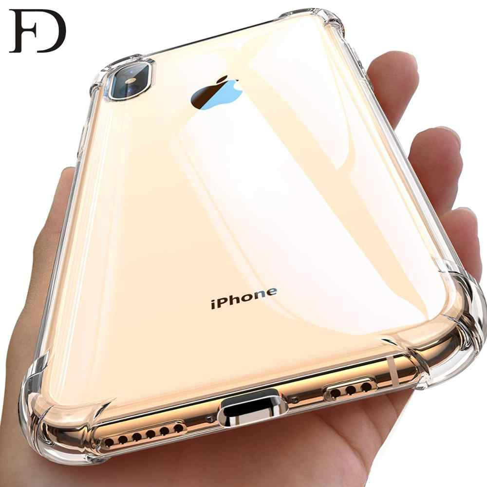 FD New Luxury Case For iPhone Case 6 6S 7 7P 8P Xs Max Clear Soft TPU Cover Support Silicone Cover Case For iPhone XR 7 8 Case