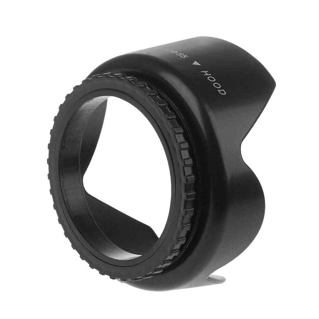 49 มิลลิเมตร 52 มิลลิเมตร 55 มิลลิเมตร 58 มิลลิเมตร 62 มิลลิเมตร 67 มิลลิเมตร 72 มิลลิเมตร 77 มิลลิเมตรเกลียวกลีบดอกไม้ Sunshade เลนส์สำหรับ Nikon Canon Sony DSLR กล้อง