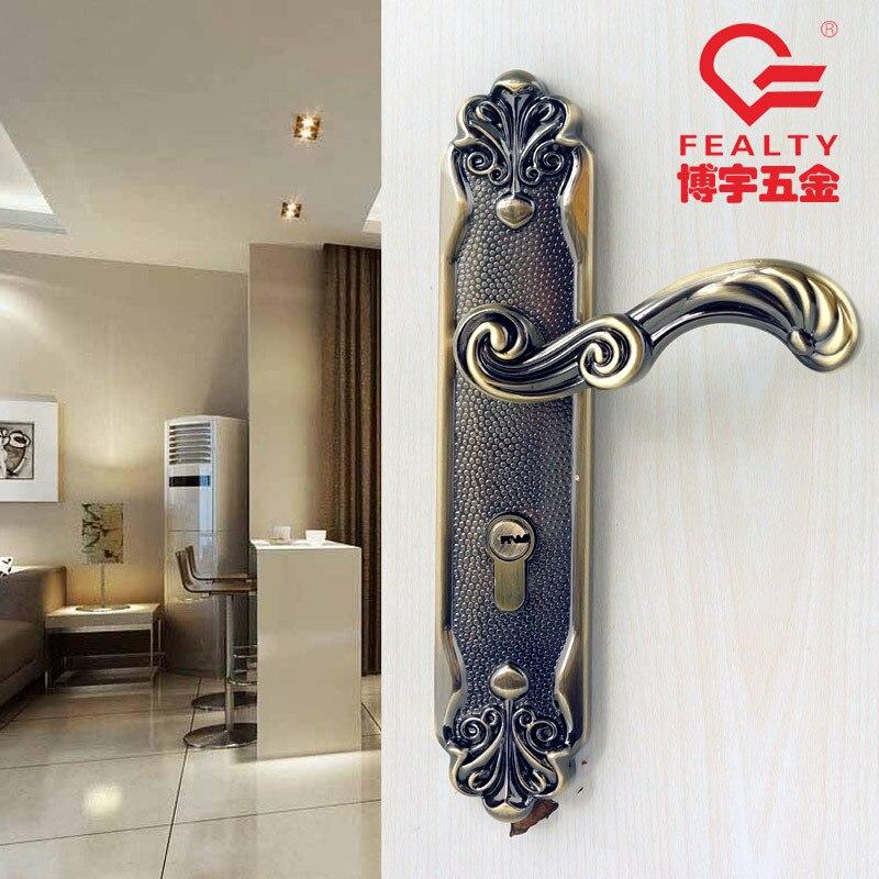 купить style brand mute indoor door lock high grade bedroom door lock with green bronze solid wood door lock antique lock по цене 4208.26 рублей