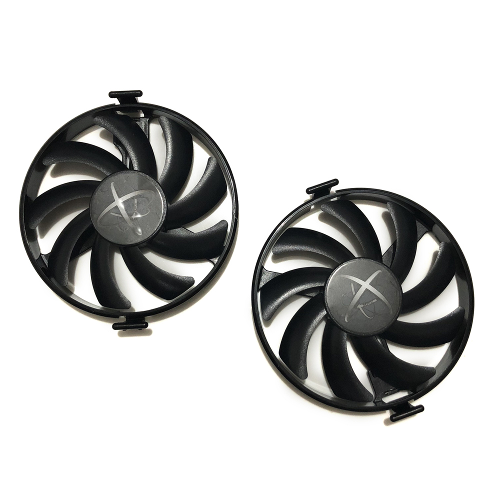 RX400 GPU Cooler RX470 RX480 Graphics Card Fan VGA Cards blower For XFX RX 470/480 Video card cooling 2pcs lot everflow t128010sm 75mm dc 12v 0 2a graphics card cooler fan for vga video card xfx hd6790 hd6950