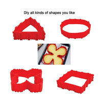 Pastry Tools 4 Pcs Set Silicone Bakeware Magic Snake Cake Mold DIY Baking Square Rectangular Heart