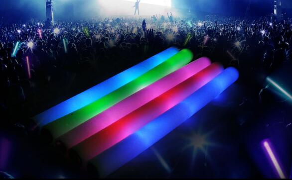 Led Foam Sticks Flashing Foam Stick Light Cheering Glow Foam Stick Luminous Sticks Festivals Christmas Carnival Concerts LED