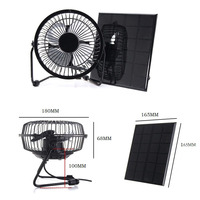Hot Selling Solar Panel Powered Fan 4.5W Mini Portable Fan Solar Power Phone Charger for Indoor Outdoor