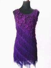 Бахрома Бак Женщина Dress 1920 s Великий Гэтсби Хлопушки Бисером Бахрома Партия Dress Vintage Плюс Размер Лето Mini Dress With аппликации