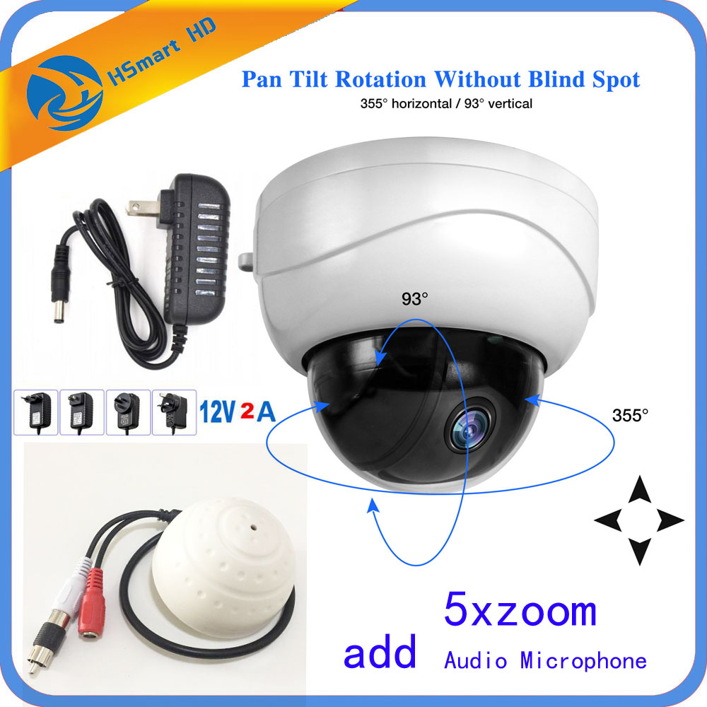 mini Dome Camera IP 1080P Full HD Onvif 5X Zoom P2P H.264/H.265 30m IR Night Vision 2.0 MP POE IP Camera add Audio Microphone network ip camera h 265 sony cmos h 264 4 0mp p2p full hd 1 8mm fisheye lens 15m ir night vision home surveillance camera 1080p