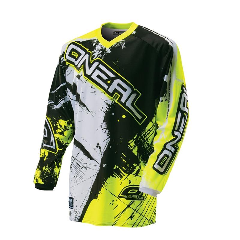 2017 Nuovo verde rosso nero Moto GP Mountain Bike Motocross Jersey BMX DH MTB T Vestiti Camicia arancione