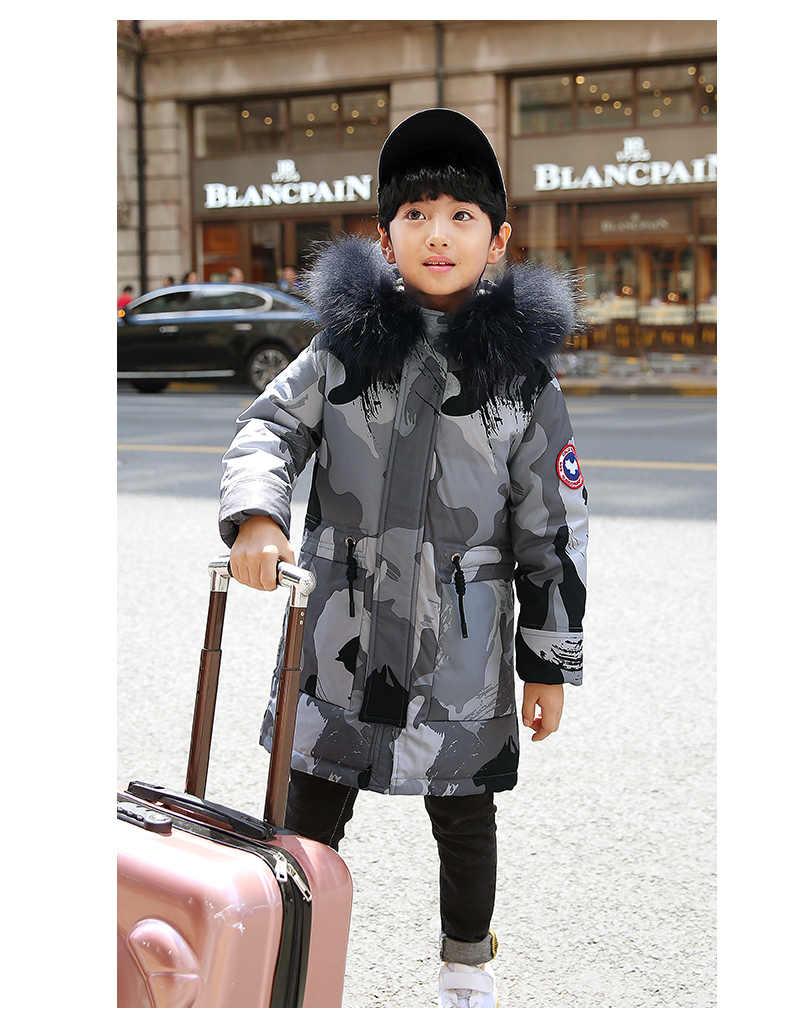 d42151ff1c9f ... 2018 Children Winter Jacket For Boy 5-12 Years Kids Boy Coat Winterjas  Jongen Doudoune