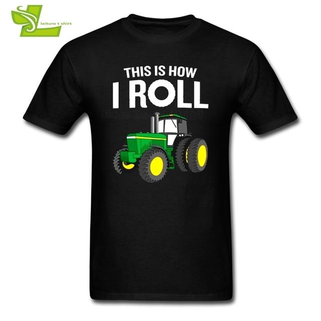 Petani Traktor Laki-laki T Shirt Fashion wanita Boy Ini Adalah bagaimana Saya Gulung Pakaian Lucu Penawaran Tshirts Teenboys Petani Traktor Pun
