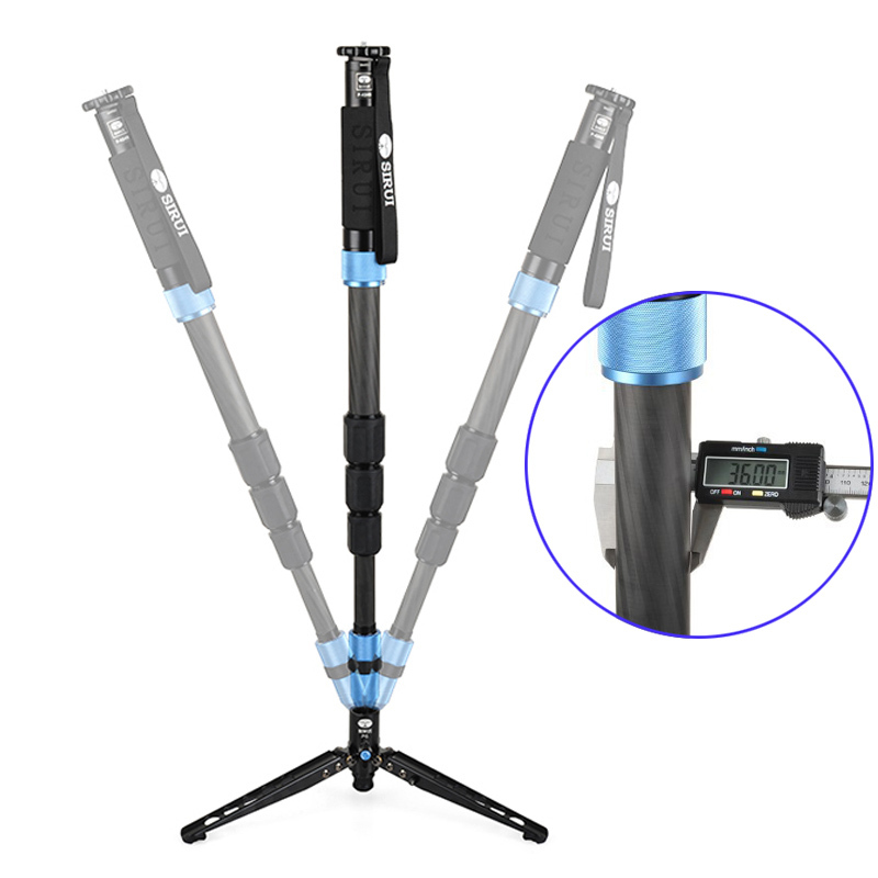 DHL Free Shipping SIRUI P-424S P424S Monopod For Camera Portable Carbon Fiber Tripod 4 Section Carrying Bag Max Loading 12kg