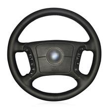 Купить с кэшбэком Heated Steering Wheel Cover for BMW E46 318i 325i E39 E53 Breathable Microfiber leather Braid on the steering wheel Car styling