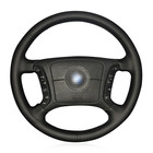 Heated Steering Wheel Cover for BMW E46 318i 325i E39 E53 Breathable Microfiber leather Braid on the steering wheel Car styling