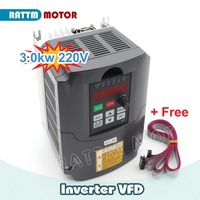 Ukraine Delivery!! 3KW VFD Variable Frequency 220V Drive VFD Inverter 4HP output 3 Phase 13A