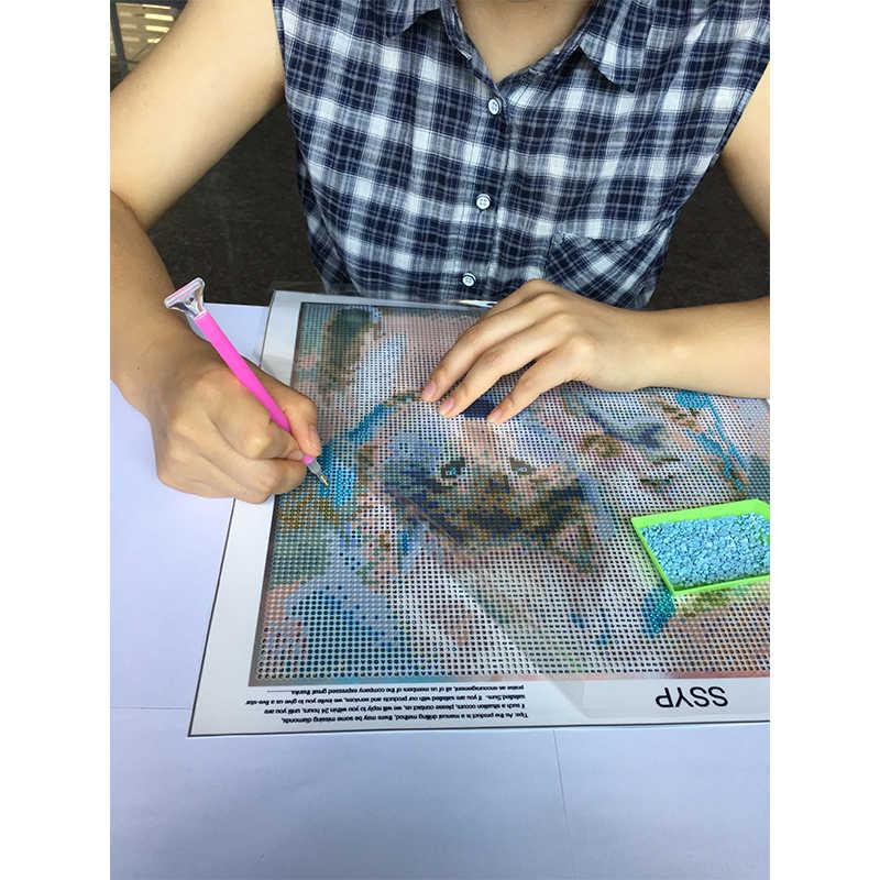 5D DIY алмаз для алмазной вышивки Живопись Мультфильм чайная чашка кошка вышивка крестиком полная дрель черный котенок мозаика изделия с вышивкой для домашнего декора