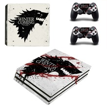 Game of Thrones Winter is Coming PS4 Pro Skin Sticker Decal Vinyl for Playstation 4 Console and 2 Controllers PS4 Pro Sticker
