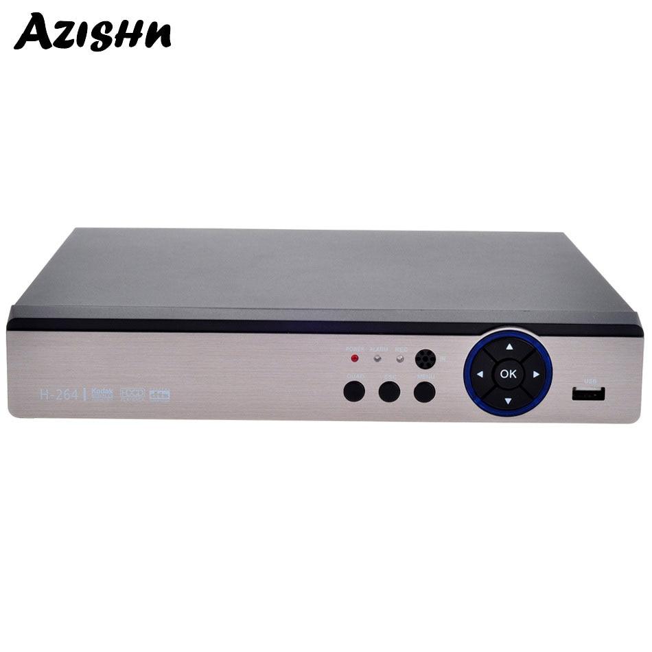 AZISHN AHD-enregistreur vidéo numérique | DVR 16CH 1080P AHD/CVI/TVI/CVBS 5 en 1 hybride NVR H.264 HDMI, sécurité vidéo, pour CCTV, caméra ONVIF