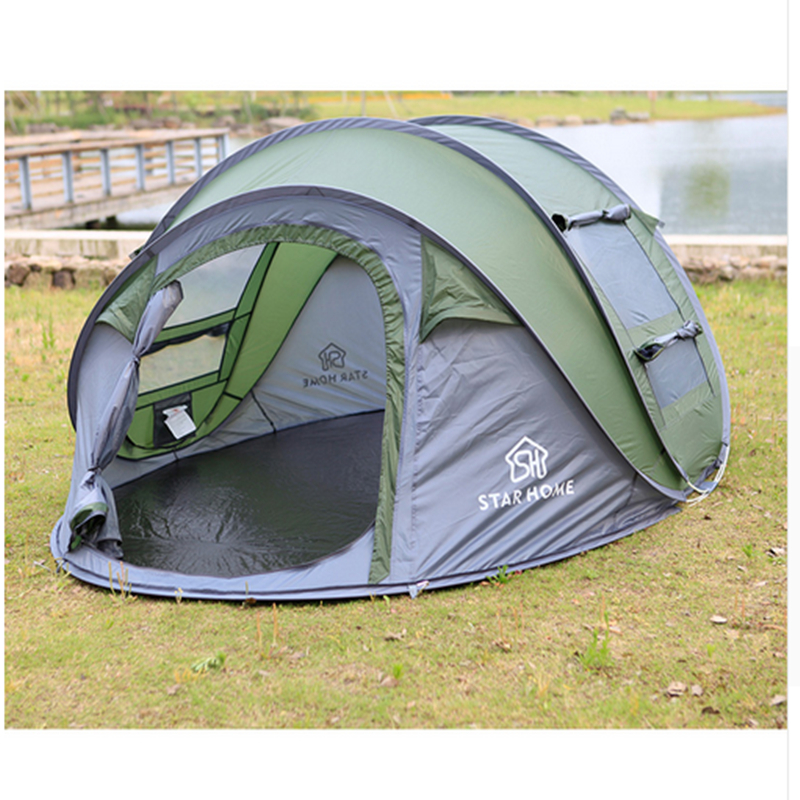 Automatic Camping Tent Outdoor 3-4 persons Waterproof Beach Camping Tent Large Space outdoor camping hiking automatic camping tent 4person double layer family tent sun shelter gazebo beach tent awning tourist tent