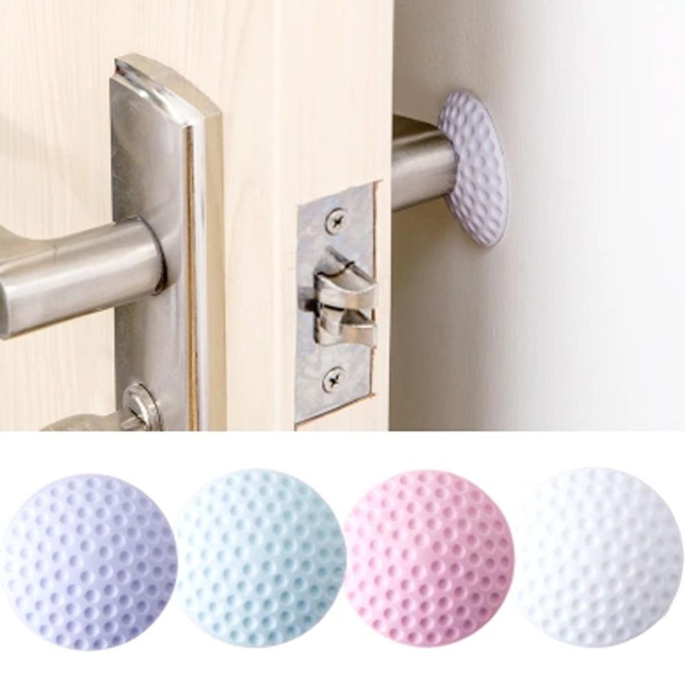 Rubber+Strong Gel Home Door Doorknob Back Wall Protector Savor Shockproof Crash Pad Nibbler