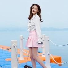 Pleated Women Skirt Summer Female 2019 New Student Korean paragraph slim high waist student skirt faldas shein harajuku