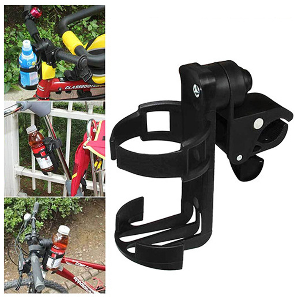 Baby Outdoor Cycling Accessery Rotatable Parent Bicycle Console Organizer Plastic Bicycle Bottle Holder for Bike Baby Stroller baby infant bottle cup holder parent console plastic organizer cup holder stroller bottle holder stroller carriage accessory